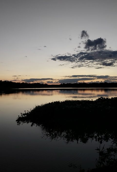 Atardecer en la Laguna de Sucuará