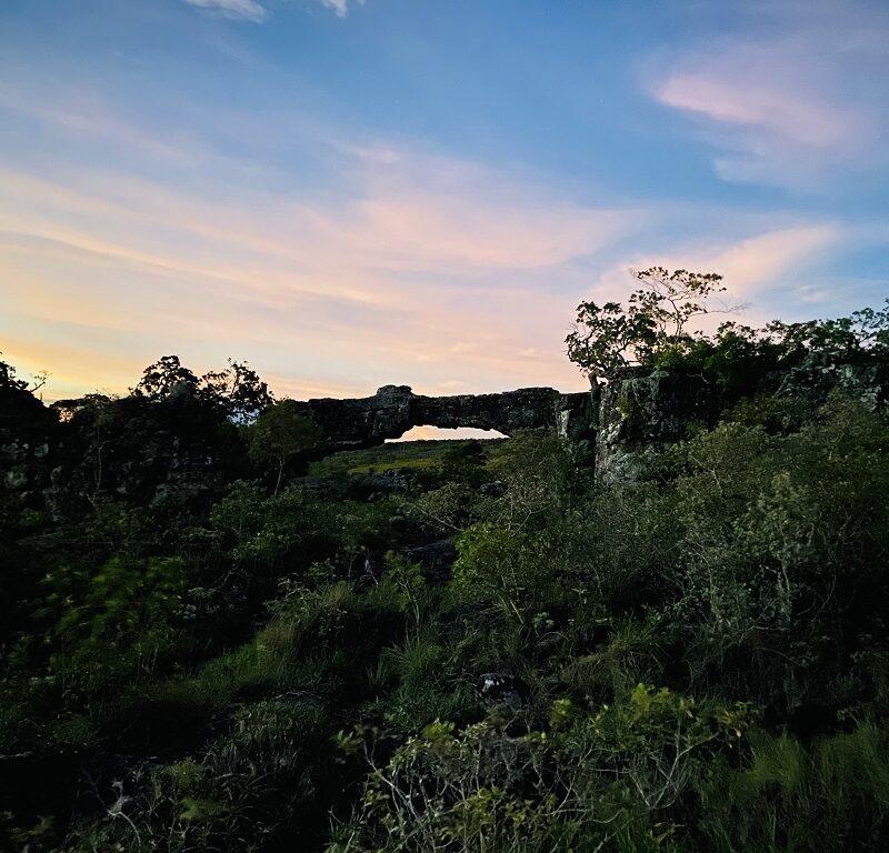El Arco Grande de Santiago de Chiquitos - atardecer